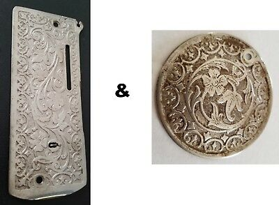 Vintage ornate Singer sewing machine covers / plates - Metal detecting finds!