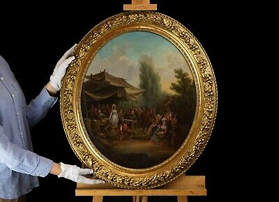 The Wedding Dance | Fine 19th Century French Oil Painting, Antique Gilt Frame