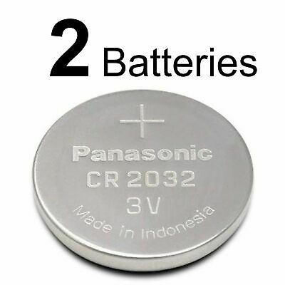 2 PANASONIC CR2032 CR 2032 3v Lithium Battery Expiration Date 2028