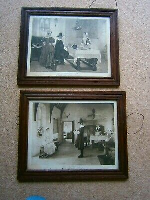 Antique Framed Prints by F D Millet - BetweenTwo Fires and The Black Sheep