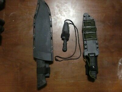 Survival knife lot - SCHRADE LeROY - COLD STEEL GI Tanto - Small Boot/Neck Knife