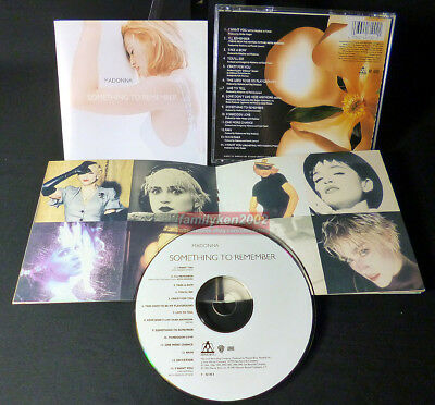 Madonna 2000 Something To Remember Taiwan CD+Booklet RARE! best hits madame x