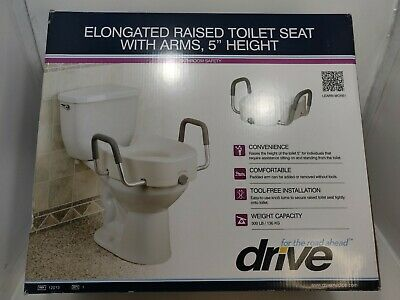 Pleasant New Drive Medical Elevated Raised Toilet Seat With Removable Caraccident5 Cool Chair Designs And Ideas Caraccident5Info