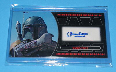 Star Wars Topps Return Of The Jedi 3D Widevision Boba Fett Autograph