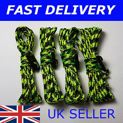 X4 XL White Guy Line Ropes 4 Metres Tent Camping Gazebo Rope Paracord