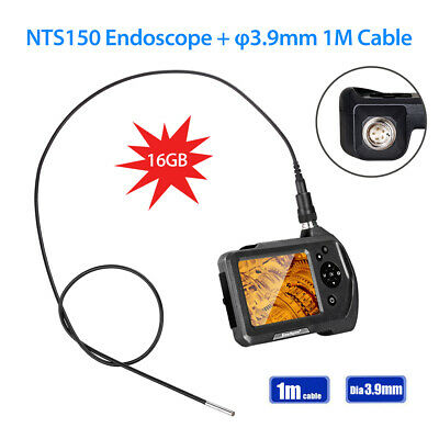 "Handheld NTS150 1M Cable 3.9mm 3.5"" LCD 2x Zoom Industrial Endoscope Borescope"