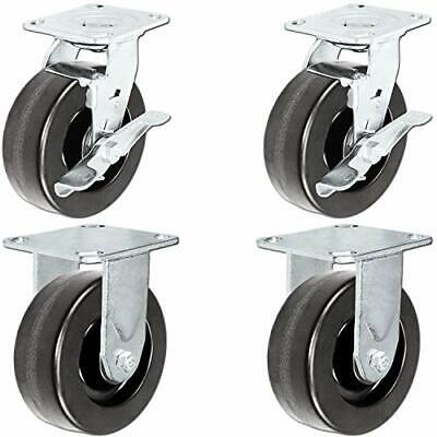 """5/"""" x 2/"""" KOBALT TOOLBOX PLATE CASTER SET RATED FOR 1120 LBS     1-4109"""