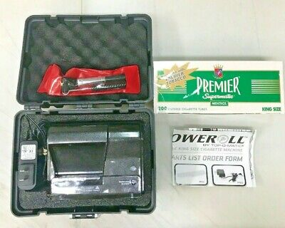 PoweRoll TOP-O-Matic Electric Cigarette Rolling Maker Machine King Tube Injector
