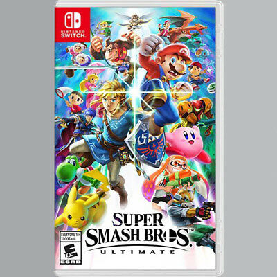 Super Smash Bros Ultimate (Nintendo Switch) NEW USPS Priority Ship to US only