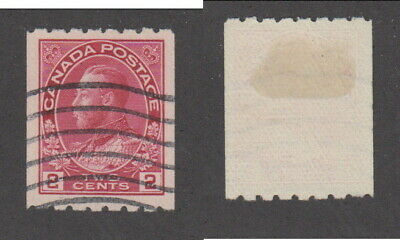 Used Canada 2 Cent Perf 8 Horizontally KGV Admiral Coil Stamp #124 (Lot #15489)