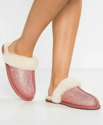 63d5db4e225 WOMEN'S SHOES UGG SCUFFETTE II SPARKLE Slippers 1100177 PINK *New ...