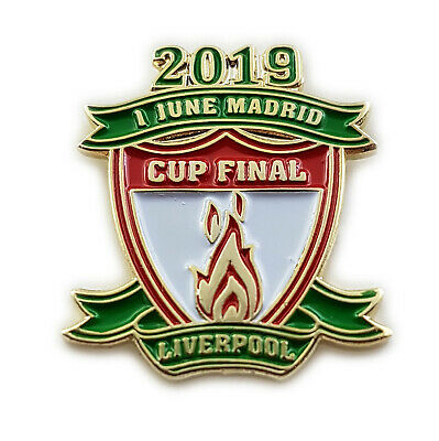Liverpool BADGE Winners European Cup Final Champions 2019 League Madrid Pin