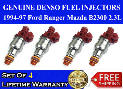 UPGRADE 4 hole fuel injectors for 85-97 Ford Ranger 2.3L //ADD H//P pack of 4