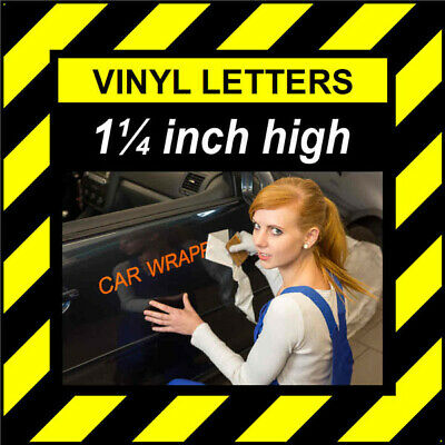 3 Characters 8 inch 202mm high pre-spaced stick on vinyl letters /& numbers
