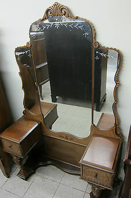 Vintage Dressing Table with Acid Cut Mirror