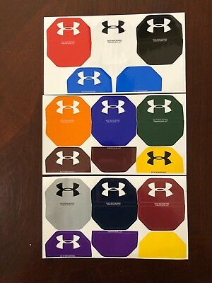 1170070f Under Armour Football Helmet Visor Eye Shield Decals Stickers / Tabs Colors