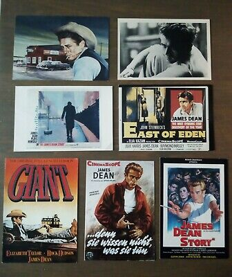 Lot de 16 cartes postales James Dean années 80