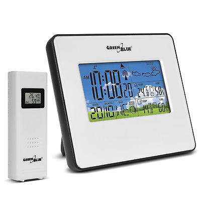 Weather Station External  Sensor Outdoor LCD Wireless Indicator GreenBlue GB532