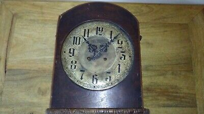 Antique Junghans Clock Movement and Case for Spares or Repair