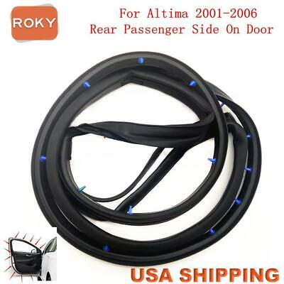 Door Opening Weatherstrip Seal Rubber Rear Right for Nissan Altima 2001-05