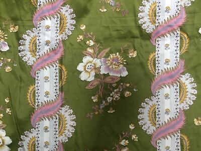 Vintage 60s Fabric Sateen Furnishing Cotton