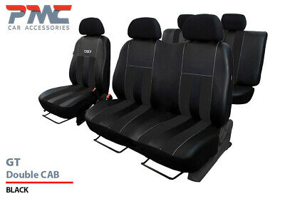 FORD TRANSIT CUSTOM 2017 2018 2019 ECO LEATHER /& ALICANTE TAILORED SEAT COVERS