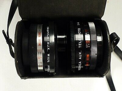 Yashica Aux. Tele & Wide Angle Lenses w/Finder for Electro 35/GSN