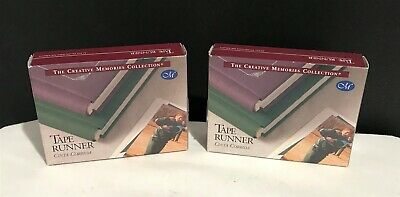 Creative Memories TAPE RUNNER Double Sided Adhesive Scrapbook 34 Ft Lot of 2