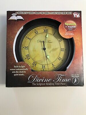Divine Time Scripture Wall Clock Bible Verse Reading Time Piece Glow In Dark New