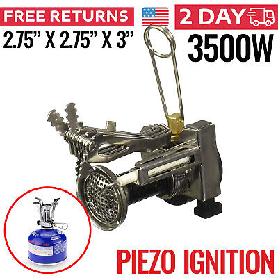 Backpacking Stove Portable Gas Burner Camping Propane Cooker Small Outdoor
