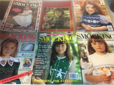 6 Vintage Retro Australian Smocking Magazines  Books Crafts  Aust Smocking