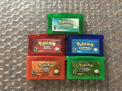 Pokemon Emerald + Sapphire + Ruby + FireRed + LeafGreen (Game Boy Advance GBA)