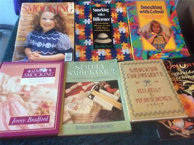 Simply Smocking Jenny Bradford Plus Collection Of 7 Smocking Books Retro Vintage