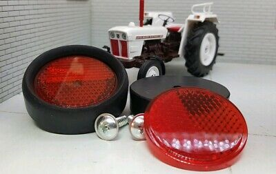 David Brown Selectamatic Tractor Quality Repro RER6 Red Rear Reflectors x2