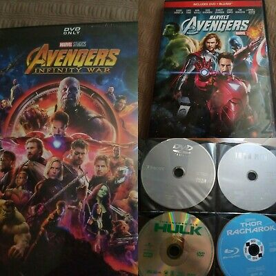 NEW/USED 6 Marvel DVD/Bluray Lot