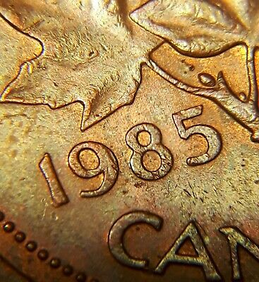 Extremely RARE 1985 Pointed 5 Canadian Small Cent P113