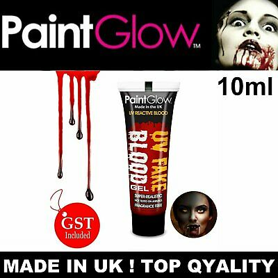 10ML Fake Blood UV Glow Effect Liquid Zombie Halloween Vampire Makeup Bright Red