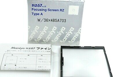""" Unused in Box "" Mamiya RZ 67 Focusing Screen Type A for RZ67 PRO II from Japan"