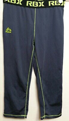 """RBX Girls SMALL 7/8 Gray Fitted Athletics Leggings Inseam14.5""""(#h1"""