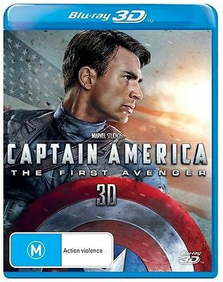 Captain America - The First Avenger  3D(Blu-ray, 2014) Avengers, Iron Man