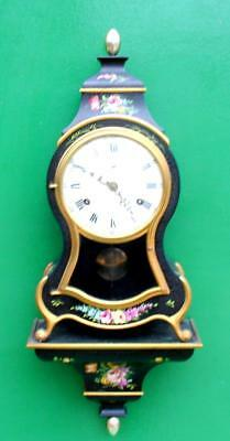 Swiss Made Vintage Rococo 8 Jour Boulle Type Mantille Support Horloge
