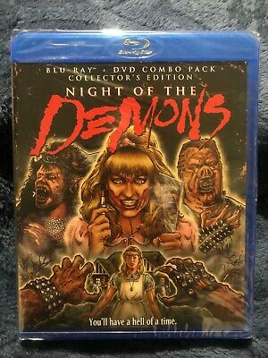 NIGHT OF THE Demons w/ Slip Cover (Blu Ray / DVD, 1988) Collector's