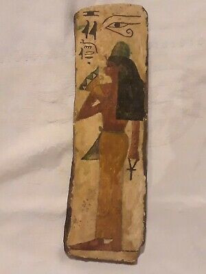 ANCIENT EGYPTIAN REPLICA RELIC Hand Painted on Wood Bark Egypt Souvenir