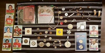 Junk Drawer Lot: Old Coins 1901+, Jewelry, Silver Coins, Swarovski Necklace+