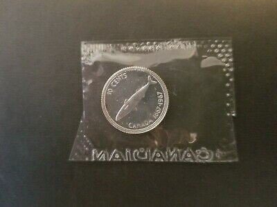 1967 Canada 10 Cents Proof-Like Silver Dime Coin