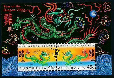 2000 Christmas Island Stamps - Year of the Dragon - MNH Minisheet