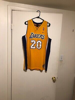 171abc28d3b Vintage Gary Payton Los Angeles Lakers #20 Nike Jersey Size Men's Large &  Shorts