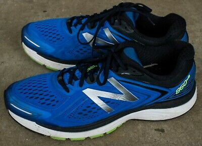 NEW BALANCE MEN'S 860v8 Shoes Blue with Green & Black