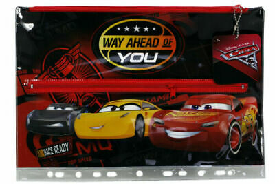 Licensed Cars Stationery PVC Large Pencil Case - 33 x 23cm