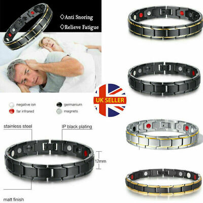 Therapeutic Energy Healing Bracelets Stainless Steel Magnetic Therapy Bracelet